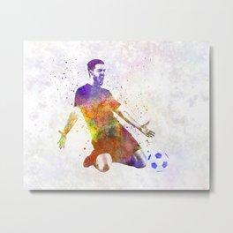 man soccer football player 13 Metal Print