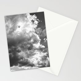 cloudy sky 2 bw Stationery Cards