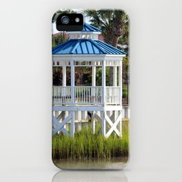 Blue And White Gazebo iPhone Case