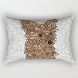 Cute Yorkie Rectangular Pillow