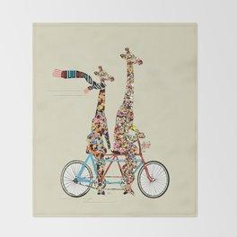 giraffe days lets tandem Throw Blanket