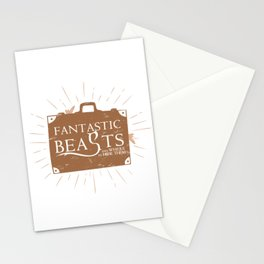Beasts and where to HIDE them Stationery Cards
