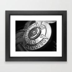 The shield of diesel Framed Art Print