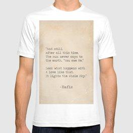 Hafiz quote T-shirt