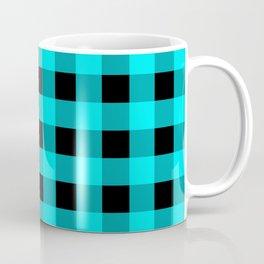 Blue Topaz and Black Check Coffee Mug