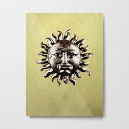 sepia sun Metal Print