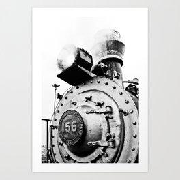 Train Black Art Print