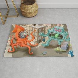 Squid vs Robot Rug