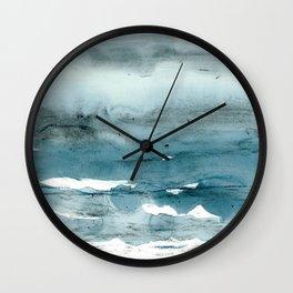 dissolving blues Wall Clock