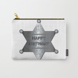 Happy Birthday Badge Carry-All Pouch