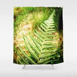 Green Fern Shower Curtain