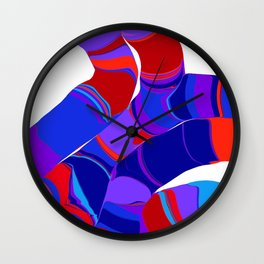 stripy strands Wall Clock