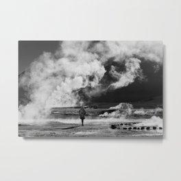 Walking into Fire Metal Print