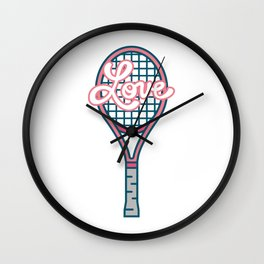 Tennis Ball Racket Game Sport Love Wall Clock