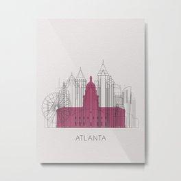Atlanta Landmarks Poster Metal Print