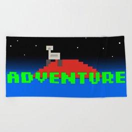 8-Bit Adventure On Mars Beach Towel