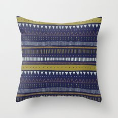 Dark Blue Pattern Throw Pillow