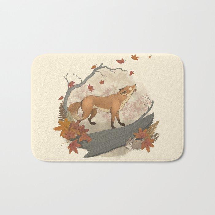 Fox and rabbit Bath Mat