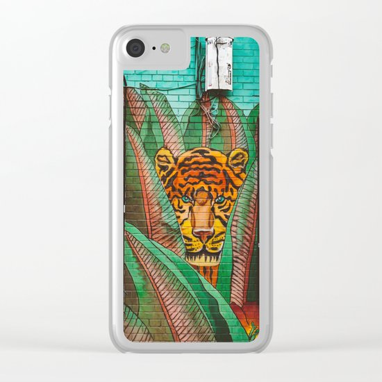 Brooklyn Jungle Clear iPhone Case