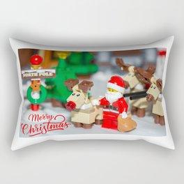 Santa and Rudolf Rectangular Pillow