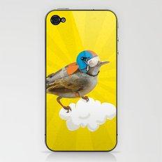 Little bird on little cloud iPhone & iPod Skin