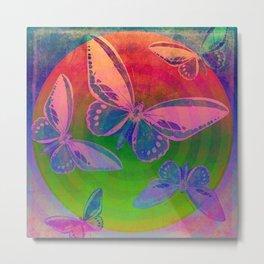 Bright Butterflies Metal Print