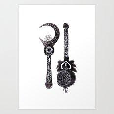 Fighting Evil By Moonlight Art Print