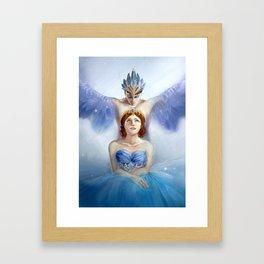 Bluebird and Florine Framed Art Print