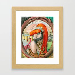 When self hatred reflections become insatiable gluttonous starving cannibals Framed Art Print