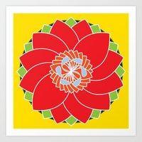 flower pattern Art Prints featuring Flower Pattern by smoothimages