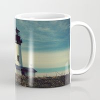 lighthouse Mugs featuring Lighthouse by Yellowstone Photo Studio