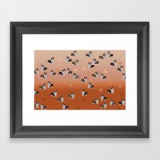 corgi dots - rust Framed Art Print