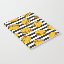 Burger Stripes By Everett Co Notebook