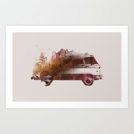 Drive me back home Art Print