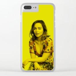 Emilia Clarke - Celebrity (Florescent Color Technique) Clear iPhone Case