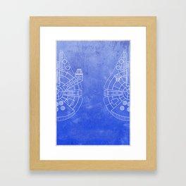 Spaceship - Falcon Framed Art Print