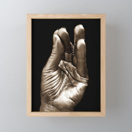 Silver hand 2 Framed Mini Art Print