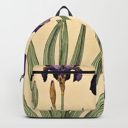 Maurice Verneuil - Iris germanique - botanical poster Backpack