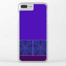 Mesmerized by Blues and Purples Clear iPhone Case