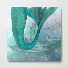 Mermaids Fantasy Pastel Sea Ocean Metal Print