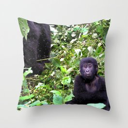 Uganda, Africa, Gorillas Throw Pillow