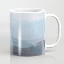 Mint Navy Blue Green Abstract Wall Art, Painting Art, Ocean Painting Print, Blue Water Coffee Mug