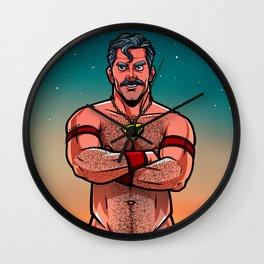 Supercap Unshaven: Clark Wall Clock