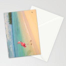 Flamingo Beach Stationery Cards