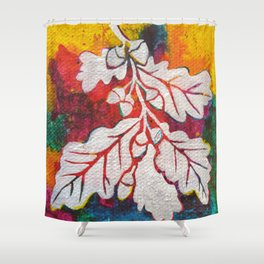 Leaves on the World Tree: Basques Oak Shower Curtain