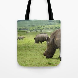 Rhinos in South Africa Tote Bag