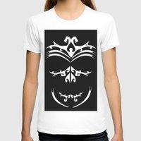 maori T-shirts featuring Maori skull black & white  by Soso Creation