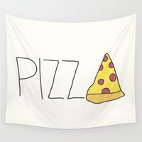 pizza Wall Tapestries featuring Pizza by radoverlays