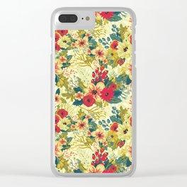 Vintage Garden (Sunset Delight) Clear iPhone Case