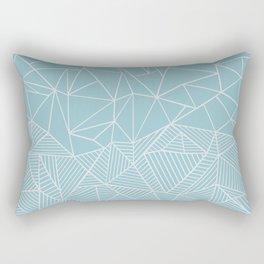 Ab Half and Half Salt Rectangular Pillow